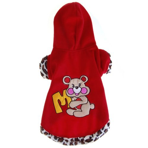 Generic Pet Dog Apparel Clothes Hoodie Coat Size 6 - Red