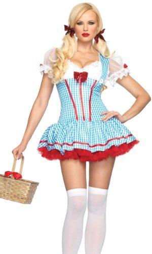 Leg Avenue Diva Dorothy Kostüm Blau-Weiß XS, 1 ()