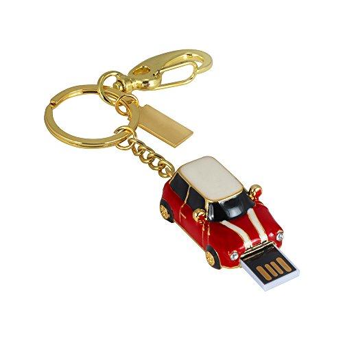Hunpta 1/ 2/ 4/ 8/ 16/ 32/64/128 GB Oldtimer USB 2.0 Flash genug Speicher Stick U Speicherplatte (Rot, 1GB) -