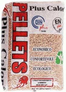 Pellets 10sacchi da 15kg plus calor classe a++, residuo cenere 0.3%