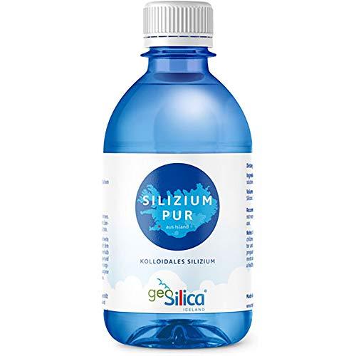 Geo Silica Iceland Flüssige organische Silica Ergänzung 300 Ml - Ph 8,5 alkalisches Wasser