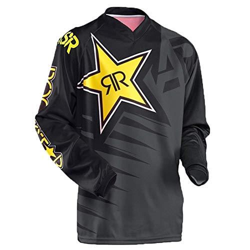 Beck Orlando T-Shirt da Uomo a Maniche Lunghe da Outdoor, Tuta da Downhill da Motocross Vestiti da Ciclismo (Color : 10, Size : XXL)