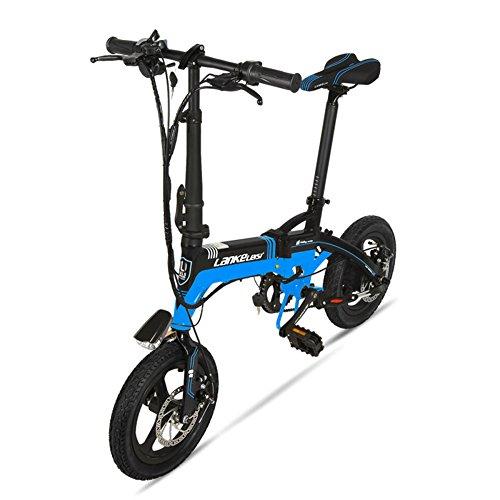 GTYW, Eléctrico, Plegable, Bicicleta, Montaña, Bicicleta, Ciclomotor Adulto, Bicicleta Eléctrica De Litio, 14 Pulgadas, Ultra Ligero, Mini, Coche Eléctrico, Duración...