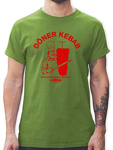 Statement Shirts - Original Döner Kebab Logo - XL - Hellgrün - L190 - Herren T-Shirt und Männer Tshirt -