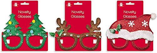 Giftmaker Weihnachten Neuheit Klar Gläser Brille Kostüm Party Baum Rentier (Internationales Paar Kostüm)