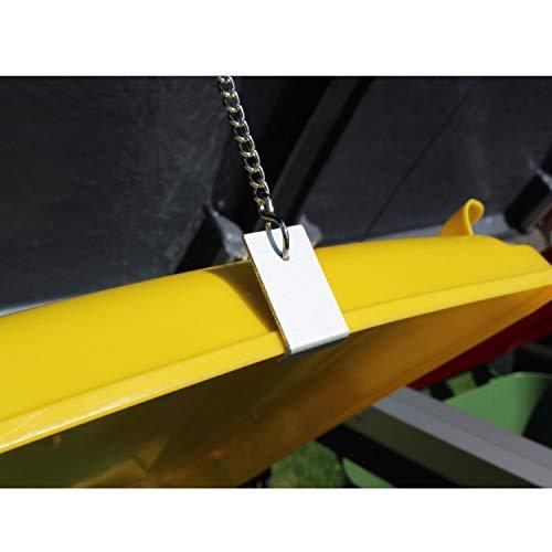 Prewood WPC Mülltonnenbox, Mülltonnenverkleidung für 1x 240l Mülltonne braun // 86x76x127 cm (LxBxH) // Gerätebox, Gartenbox & Mülltonneneinhausung - 3