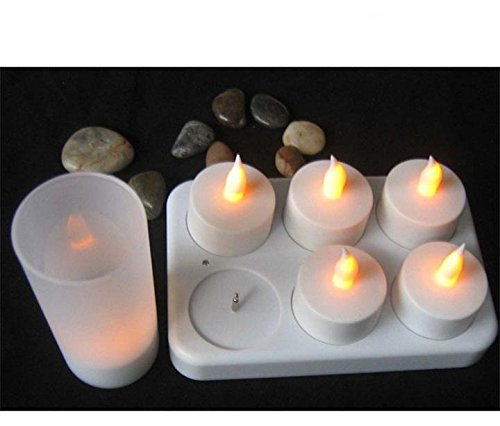 new-silk-road-white-rechargeable-battery-operated-flameless-led-lighted-flickering-tea-light-candles