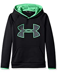 Under Armour – Felpa AF Big logo Hoody, Ragazzi, AF Big Logo, Black/Lime Twist, M
