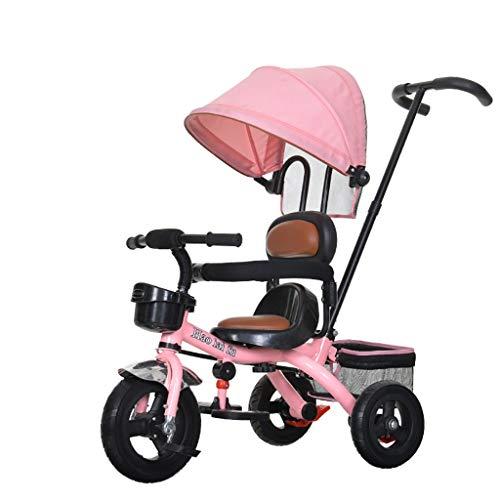HhGold Kinder Dreirad Fahrrad 1-3-6 Jahr alt großes Baby Fahrrad weichen Sitz Kinderwagen Fahrrad männer und Frauen Baby trolleys spezialität Sonnencreme - Fahrrad Männer Sitze