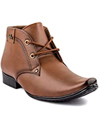 RockSoft 1-RS101Tan Brown Synthetic Brown Color Men's Lace-Up Formal Shoes