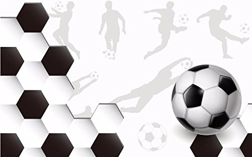 HHCYY Fußball 3D Tapete, Welt Cups Kinder Schlafzimmer Dekoration Wandbild-450cmx300cm -