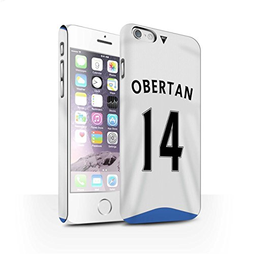 Offiziell Newcastle United FC Hülle / Matte Snap-On Case für Apple iPhone 6S / Pack 29pcs Muster / NUFC Trikot Home 15/16 Kollektion Obertan