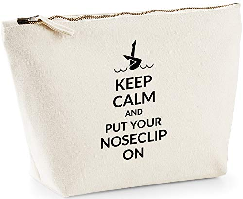 888a675a8 Hippowarehouse Keep Calm and Put Your Noseclip on Synchronized Bolsa de  Lavado cosmética Maquillaje Impreso 18x19x9cm