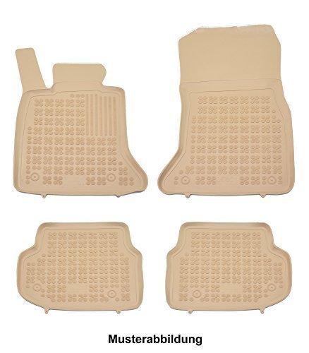 Beige Gummi-Schalenfussmatten Fußmatten Gummifußmatten Gummimatten Automatten passgenau mit hohem Rand Beige Gummi