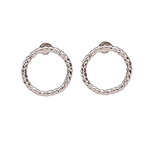 Womens Ear Studs ,Clode® 1Pair Ladies Girls Fashion Personality Twist Circle Earrings Geometric Circle Earring Stud for Party,Holiday