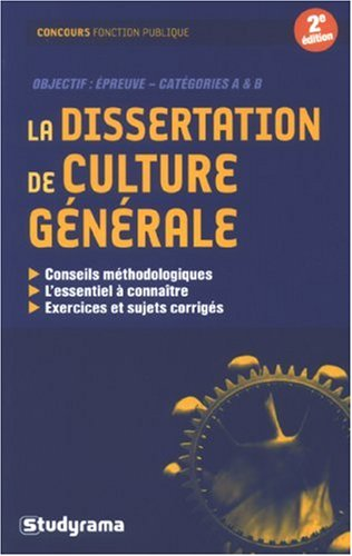 La dissertation de culture générale par Odile Berchoud