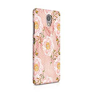 Cover Affair Floral / Flowers Printed Designer Slim Light Weight Back Cover Case for Lenovo P2