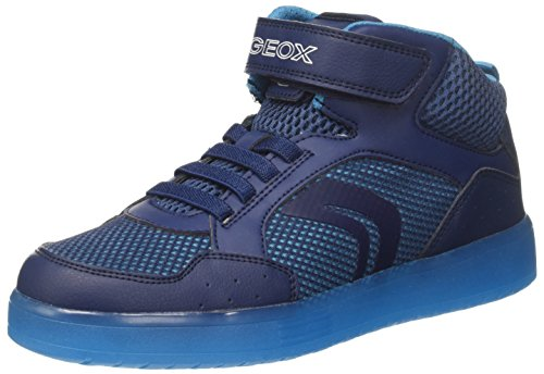 Geox Jungen J KOMMODOR Boy C Hohe Sneaker, Blau (Navy/Lt Blue), 39 EU