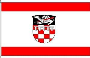 Königsbanner Tischfähnchen Sieglar - Tischflaggenständer aus Holz