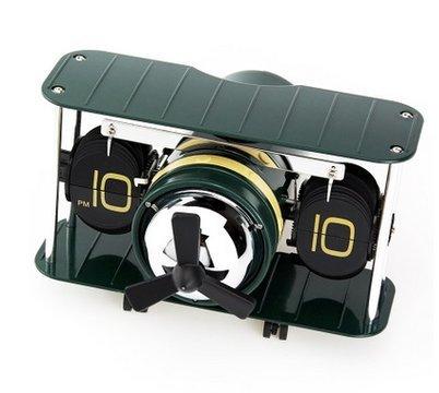 lpkone-Ebene flip Uhren und kreative Clock Mode Home Auto flip clock Handwerk Uhren, Grün
