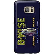 California - B-Wise (Owl) Brand Pear Label (Galaxy S7 Cell Phone Case, Slim Barely There)