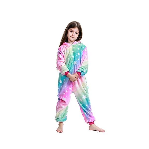 LANTOP - Pijama mono de unicornio para niñas, ideal como regalo de Navidad o Halloween, o como disfraz de cosplay 5