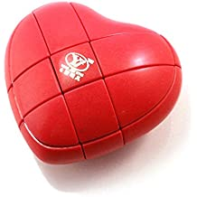 YJ 3x3x3 Rojo cubo de corazón Mod rompecabezas del rompecabezas del cubo 3x3 Chueco Smooth de juego fácil