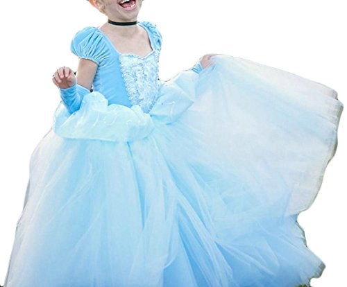 security Girls Crew-Neck Vintage Swing Rapunzel Princess Party Costume Long Dresses
