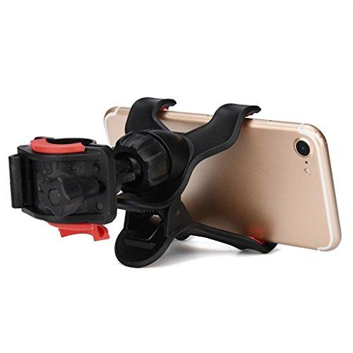bescita Fahrradhalter, Universal-Motorrad Verstellbare Lenkerhalterung für Handy/GPS, Schwarz -