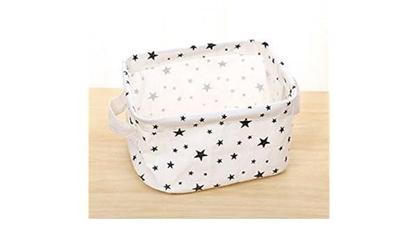 DE Jouets b/éb/é de stockage WDOIT Coton et lin Panier de rangement de petits objets Panier de rangement With2/Poign/ées pour tiroir en tissu