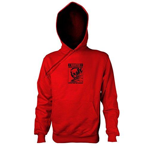 TEXLAB - Wanted Arrow - Herren Kapuzenpullover, Größe XXL, rot (Roter Pfeil Dc Kostüm)