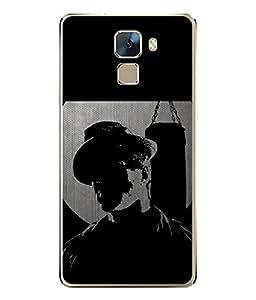 FUSON Designer Back Case Cover for Huawei Honor 7 :: Huawei Honor 7 (Enhanced Edition) :: Huawei Honor 7 Dual SIM (Pop Singer Crazy boys Fashion Style)