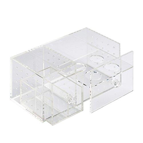 Kleinen Raum-storage-lösungen (ounona Cosmetics Organizer klar Acryl Make-up Speicher Fall Staubdicht Tabelle Kosmetische Behälter)