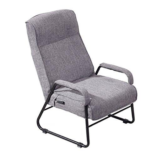 LI JING SHOP - Individu Fold Chaise Longue Tissu Chambre Lire Un Livre Loisirs Siège Moderne Simple Paresseux Canapé ( Couleur : Gris )