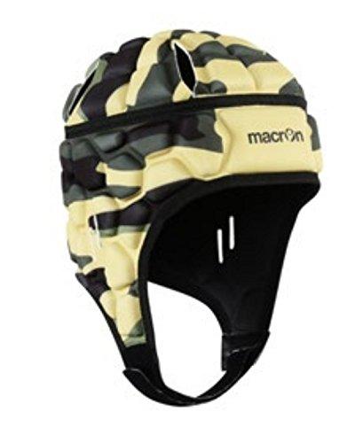 Casco Caschetto Protettivo Portiere Calcio / Rugby Helmet XE Camouflage Macron (XS/S)