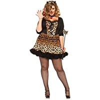 Horror-Shop Sexy Leopardo Plus Disfraces De Halloween 3X/4X