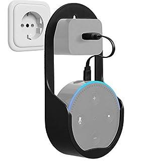 GMYLE Echo Dot 2 Wandhalterung Halterungsständer für Amazon Alexa Echo Dot 2. Generation ohne Schmutz, Drähte oder Schrauben, Dot-Zubehör, kompakter Halter, Hülle, in Küchen, Badezimmer und Schlafzimmer einstecken