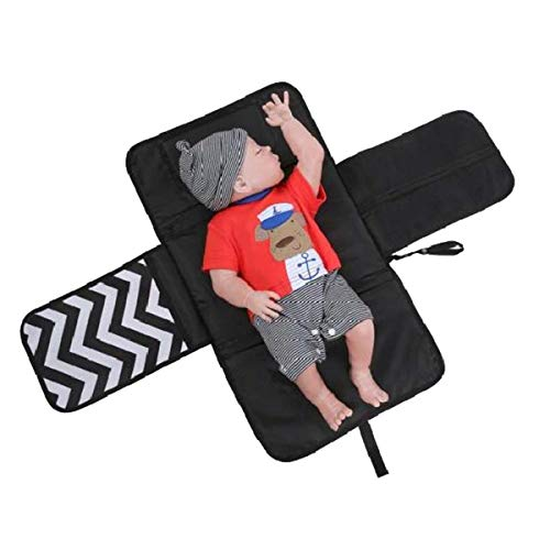 Imagen para Cambiador multifuncional 3 en 1, bolso cambiador plegable, cambiador de pañales, alfombra impermeable. gris