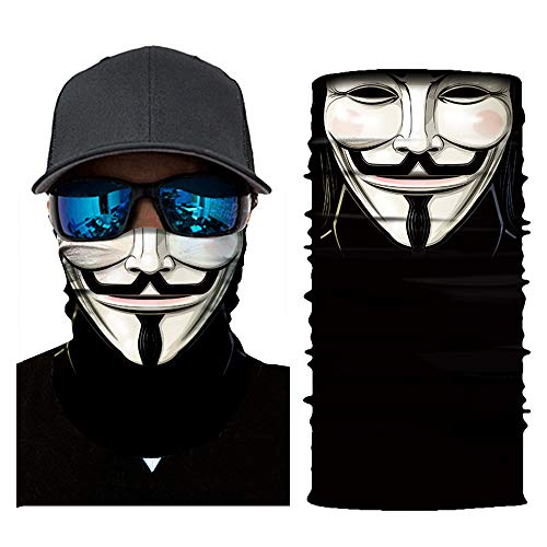 KKmoon Gesicht Maske Motorrad Fahrrad Helm Hals Cool Robot Skeleton Halloween Maske Schal Joker Stirnband Balaclavas für Radfahren Angeln Ski Motorrad Wilder Schal 3D Digitaldruck,AC149