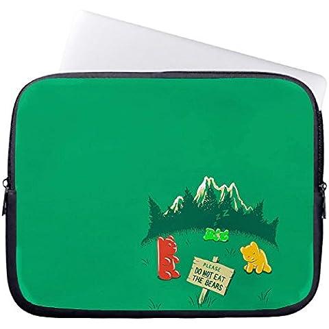 chadme funda para portátil bolsa de funda para portátil/por favor no comer el oso casos con cremallera para macbook air 10 inches