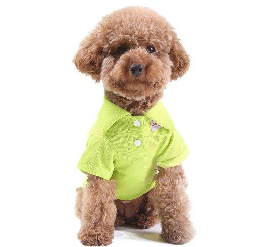 Blancho confortable Coton Polo pour chien Pet Chiot Vêtements Vêtements pour animaux Apparel (Vert, SM)