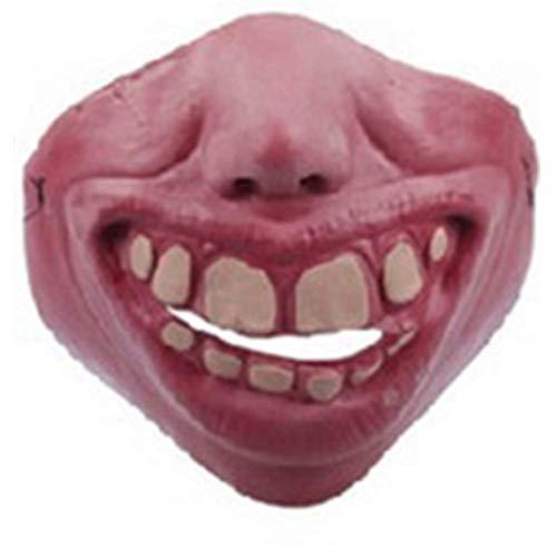 szlsl88 Gesichtsmaske Erwachsene Halloween Halb Lustig Cosplay Scary Kostüm Latex Clown Fool's Tag Party Haustier Geschenk Echt (Typ 5) - Wie Bild Show, Type 10