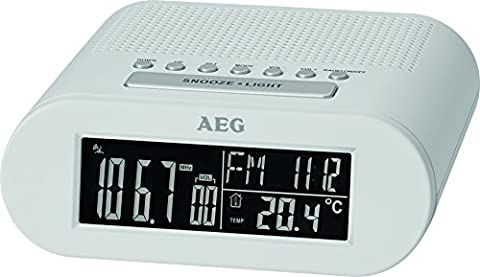 AEG MRC 4145F Funk-Uhrenradio Temperaturanzeige, Wochentags-und