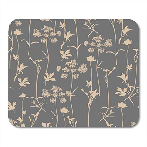 Aroma Herb (HOTNING Gaming Mauspads, Gaming Mouse Pad Vector Seamless Floral Pattern with Aroma and Medical Herbs Botanical 11.8