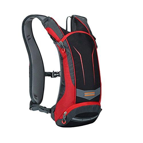 All'aperto Equitazione Sacchetto Di Acqua Zaino Il Tempo Libero Alpinismo Trekking Borsa Sportiva,Blue Red