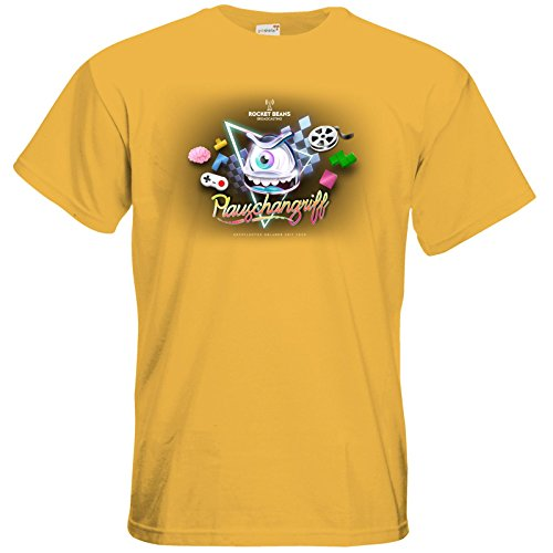 getshirts - Rocket Beans TV Official Merchandising - T-Shirt - Plauschangriff Gold