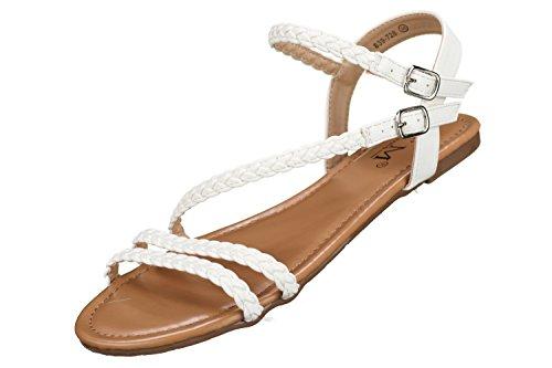 C M - Sandales Femme 839-728 White Blanc
