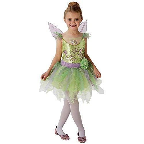 (Rubie's Disney Kinder Kostüm Tinkerbell Fee Karneval Fasching Gr.5 bis 6 J.)