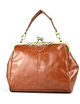 DELEY Frauen Vintage Europa Stil Klassische Tote Handtasche Umhängetasche