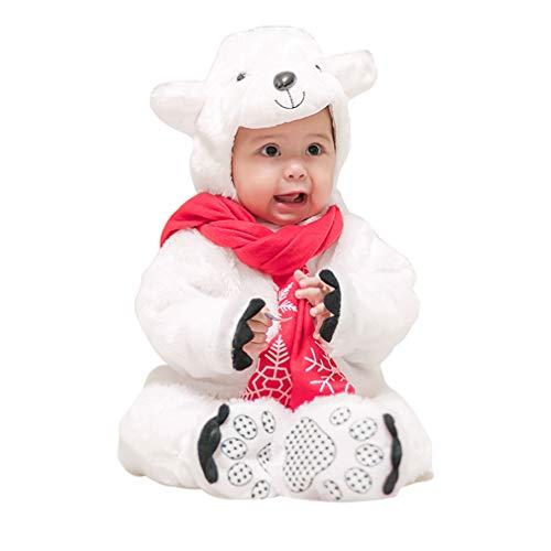 Eisbär Kostüm Baby,Unisex Tiere Strampler Kleinkind Spielanzug Faschingskostüme Cosplay (Eisbär Kostüm Kleinkind)